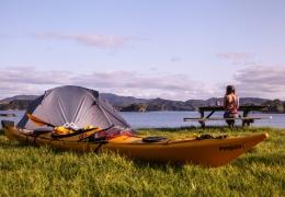 Kayaks camping Paradise