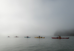 Awsome Kayaking in the mist